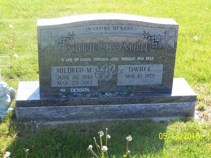 Abercrombie, David L. Sr. & Mildred M. front